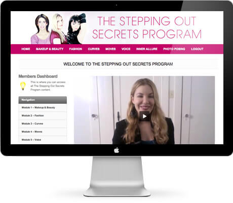 The Stepping Out Secret Program's Members Area
